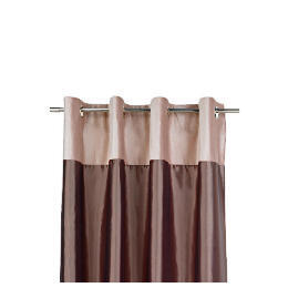 Tesco Velvet Taffeta  Lined Eyelet Curtains, Warm Mink 229x229cm Reviews