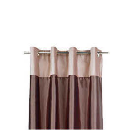 Tesco Velvet Taffeta  Lined Eyelet Curtains, Warm Mink 229x229cm Reviews