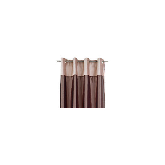 Tesco Velvet Taffeta  Lined Eyelet Curtains, Warm Mink 229x229cm