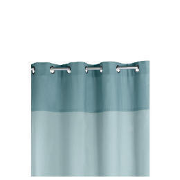 Two Tone Panama Eyelet Curtainss, Sky 168x137cm Reviews