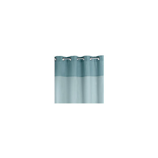 Two Tone Panama Eyelet Curtainss, Sky 168x137cm