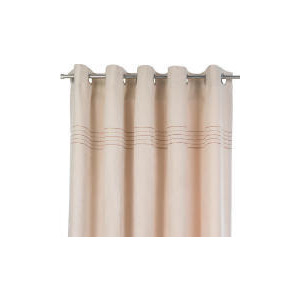 Photo of Tesco Embroidered Faux Suede Unlined Eyelet Curtains, Natural 168X183CM Curtain