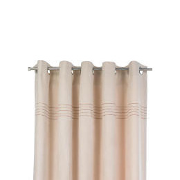Tesco Embroidered Faux Suede Unlined Eyelet Curtains, Natural 117x183cm Reviews