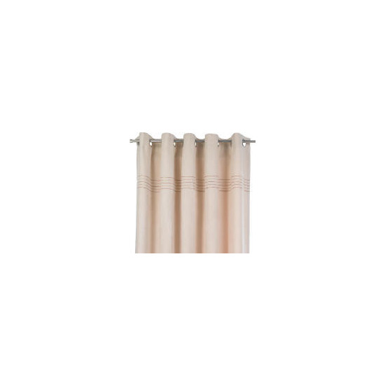 Tesco Embroidered Faux Suede Unlined Eyelet Curtains, Natural 117x183cm