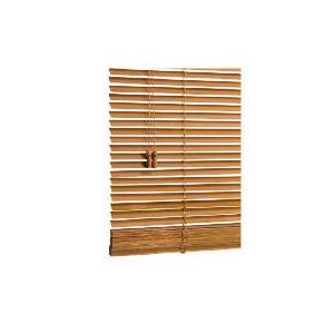 Photo of Wood Venetian Blind, Oak Effect 120CM Curtain