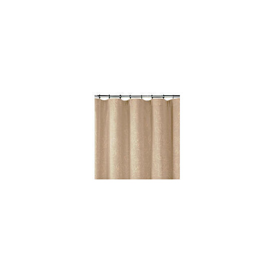 Leaf Jacquard Lined Pencil Pleat Curtainss, Taupe 168x137cm