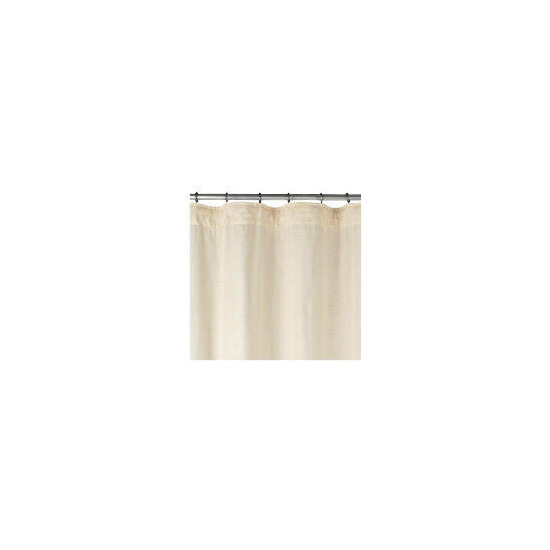 Linen Effect Unlined Pencil Pleat Curtainss, Natural 168x229cm
