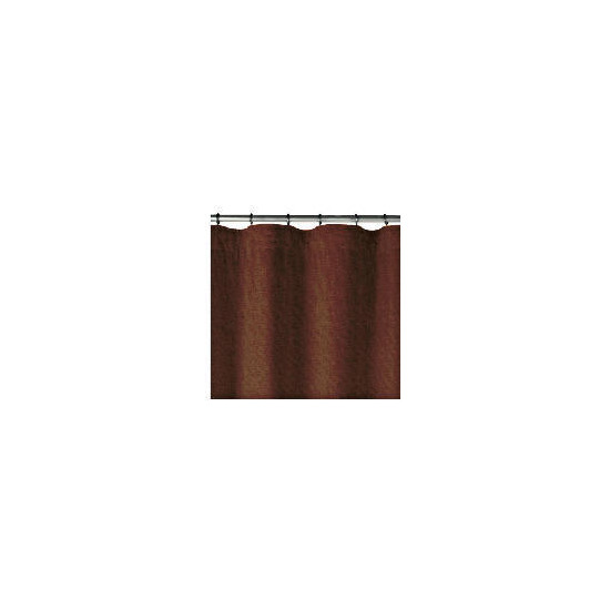 Linen Effect Unlined Pencil Pleat Curtainss, Chocolate 117x137cm