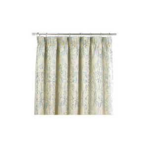 Photo of Tesco Damask Jacquard Lined Pencil Pleat Curtains, Duck Egg 163X229CM Curtain