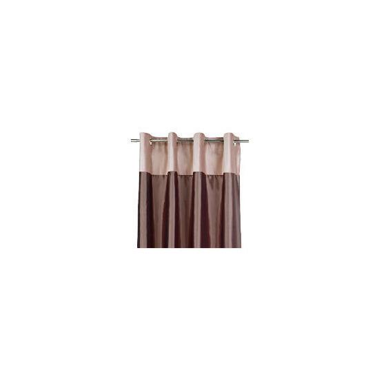 Tesco Velvet Taffeta  Lined Eyelet Curtains, Warm Mink 163x229cm