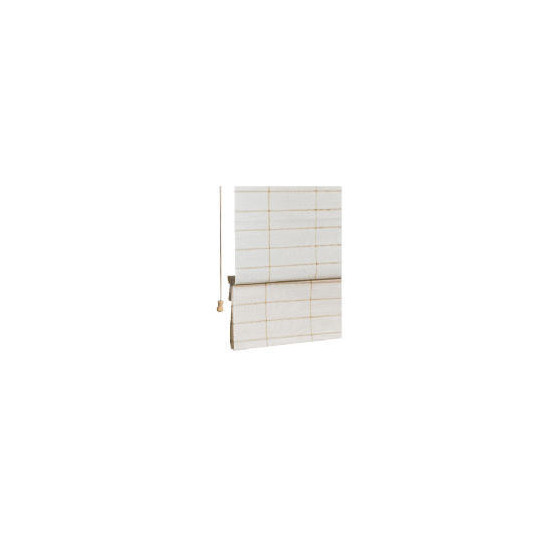 Jute Check Roman Blind, Natural 120cm
