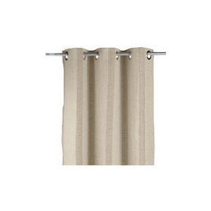 Photo of Linen Mix Stripe Lined Eyelet Curtainss, Natural 163X137CM Curtain