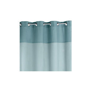Photo of Two Tone Panama Eyelet Curtainss, Sky 168X183CM Curtain