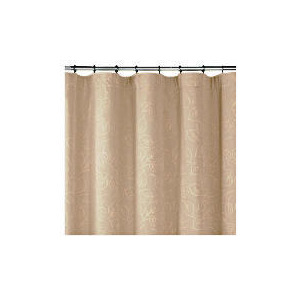 Photo of Leaf Jacquard Lined Pencil Pleat Curtains, Taupe 168X183CM Curtain