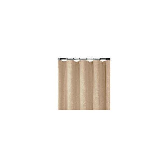 Leaf Jacquard Lined Pencil Pleat Curtains, Taupe 168x183cm