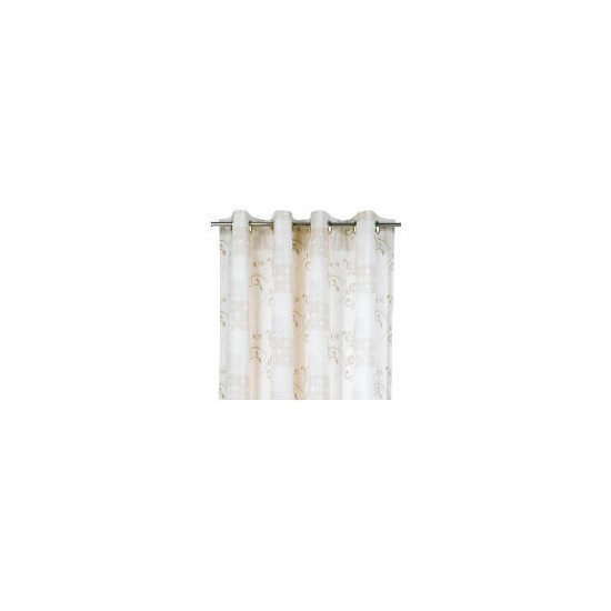 Tesco Ornate Square Unlined Eyelet Curtains, 168x137cm