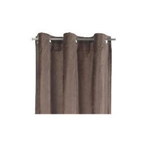 Photo of Tesco Velvet  Lined Eyelet Curtains, Chocolate 137X183CM Curtain
