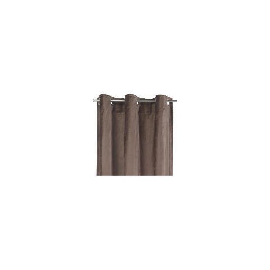 Tesco Velvet  Lined Eyelet Curtains, Chocolate 137x183cm
