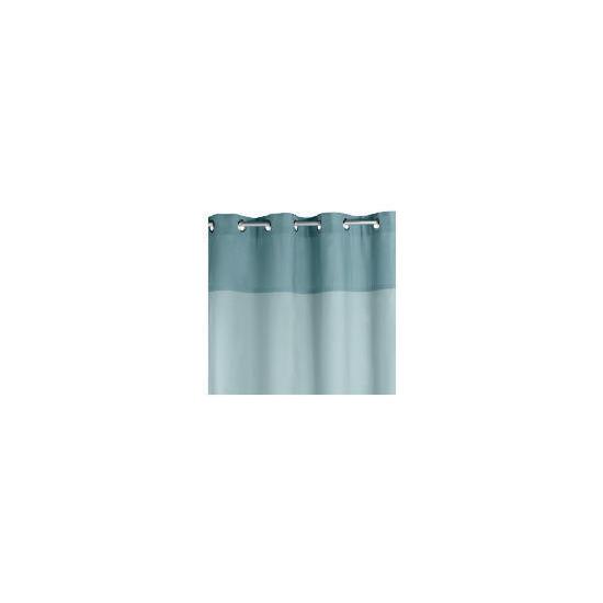 Two Tone Panama Eyelet Curtainss, Sky 117x137cm