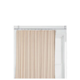 Tesco Linen Effect Unlined Pencil Pleat Curtains, Natural 117x183cm Reviews