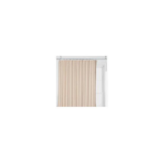 Tesco Linen Effect Unlined Pencil Pleat Curtains, Natural 117x183cm