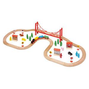 Photo of Tesco 56 Piece Train Set Toy