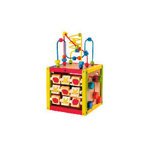 Photo of Tesco Wooden Activity Cube Toy