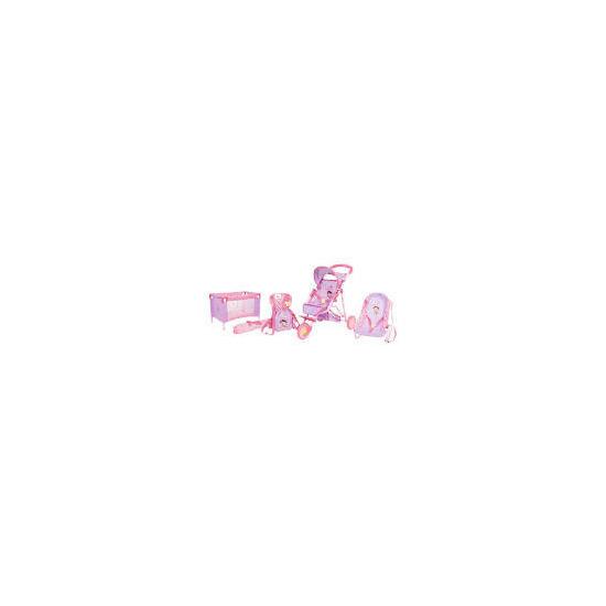 Dora 3 Wheel Toy Stroller Travel Playset