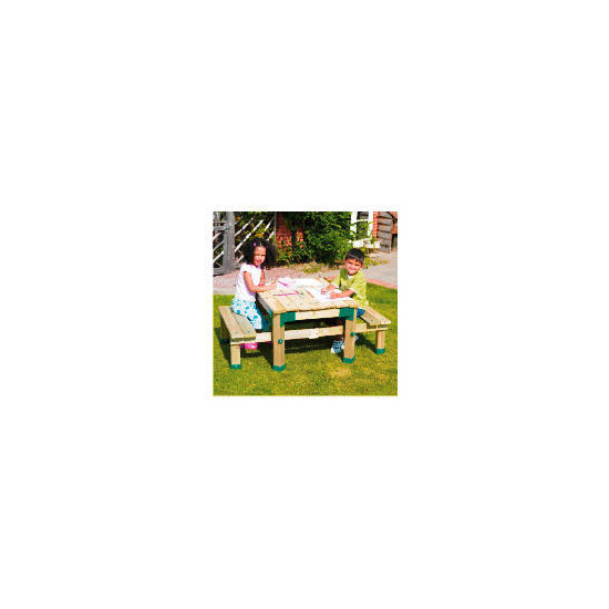 Tp Forest Deluxe Picnic Table Sandpit