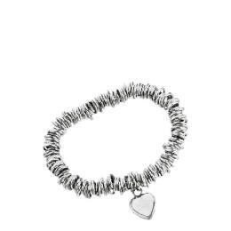 Silver link & heart charm bracelet Reviews