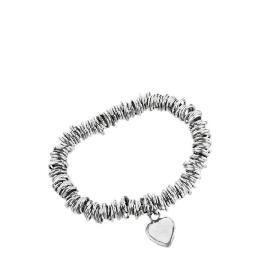Silver link & heart charm bracelet Reviews