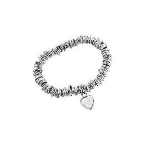 Photo of Silver Link & Heart Charm Bracelet Jewellery Woman