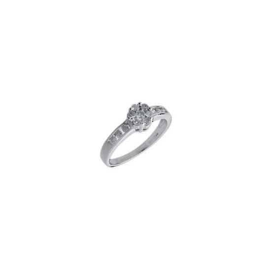 9ct white gold 1/2 carat diamond ring V