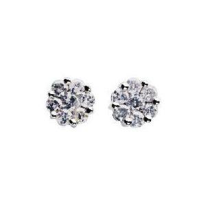 Photo of 9CT White Gold 1/4 Carat Diamond Earrings Jewellery Woman