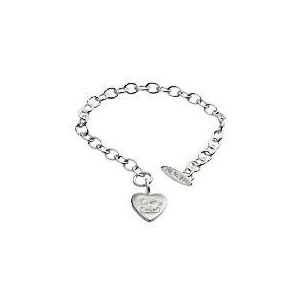 Photo of Me To YOU Silver Heart Tag Bracelet Jewellery Woman