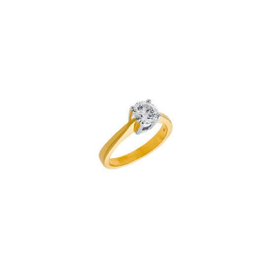 18Ct 1 carat diamond ring K