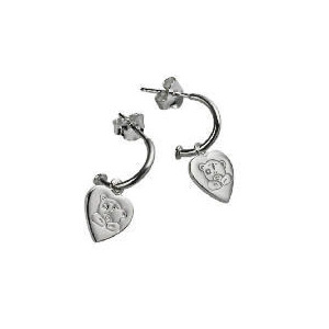 Photo of Me To YOU Silver Heart Half Hoop Earrings Jewellery Woman
