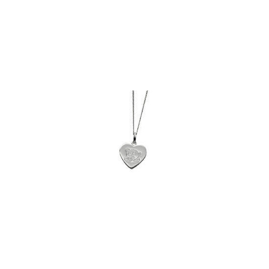 Me To You silver heart pendant