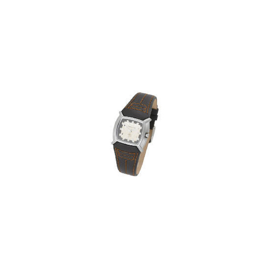 Kahuna ladies square dial brown strap watch