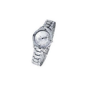 Photo of F&F Signature Round Dial Stainless Steel Stone Set Bracelet Watch Watches Woman