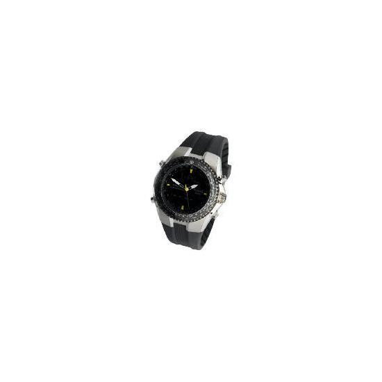 Pulsar mens ana-digi chrono/tachy resin strap watch