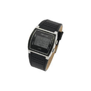 Photo of Kahuna Mens Digital Black Textured Strap Watch Watches Man