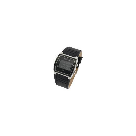 Kahuna mens digital black textured strap watch
