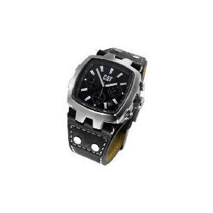 Photo of CAT Steel Square Chrononograph Black Strap Watch Watches Man