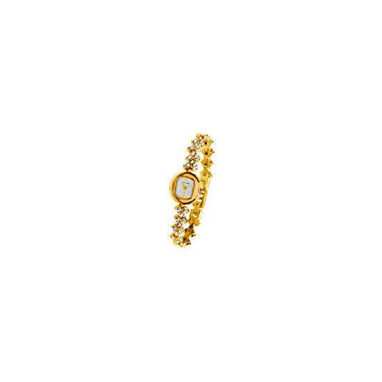 Cosmopolitan Ladies Stone Set Watch And Bracelet Set