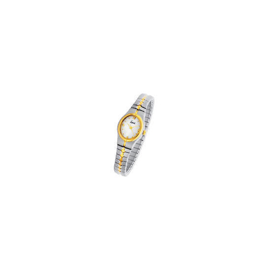 Limit ladies two tone oval expander watch