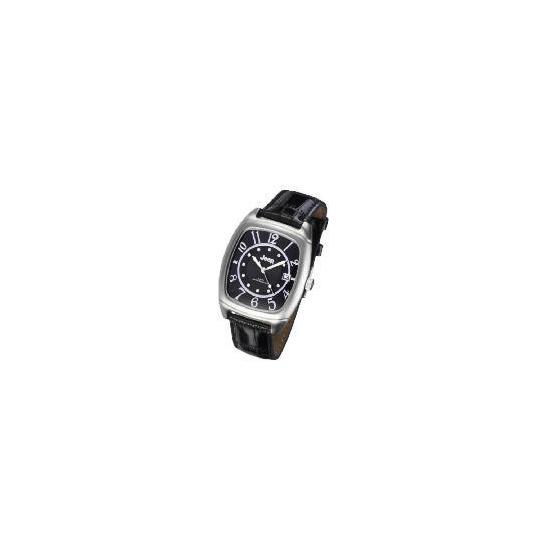 Jeep tank black dial date black strap watch