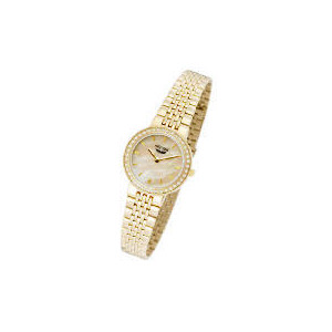 Photo of Artemis Ladies Gold Plated Stone Set Watch Watches Woman