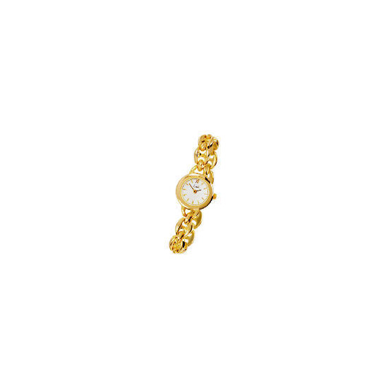 Limit ladies gold plated champagne dial bracelet watch