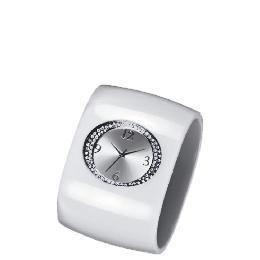 F&F Signature white perspex stone detail cuff watch Reviews